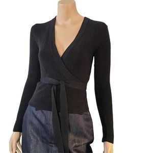 WILFRED NWOT Black Wrap Around Sweater XS